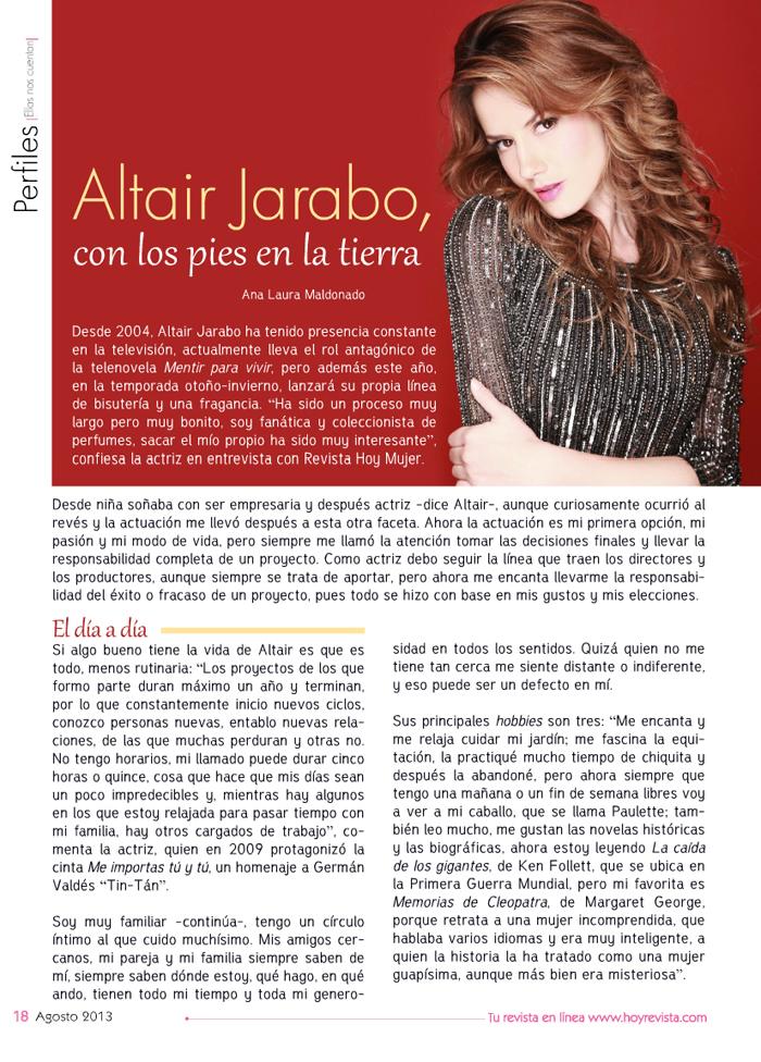 Altair Jarabo for Hoy ...