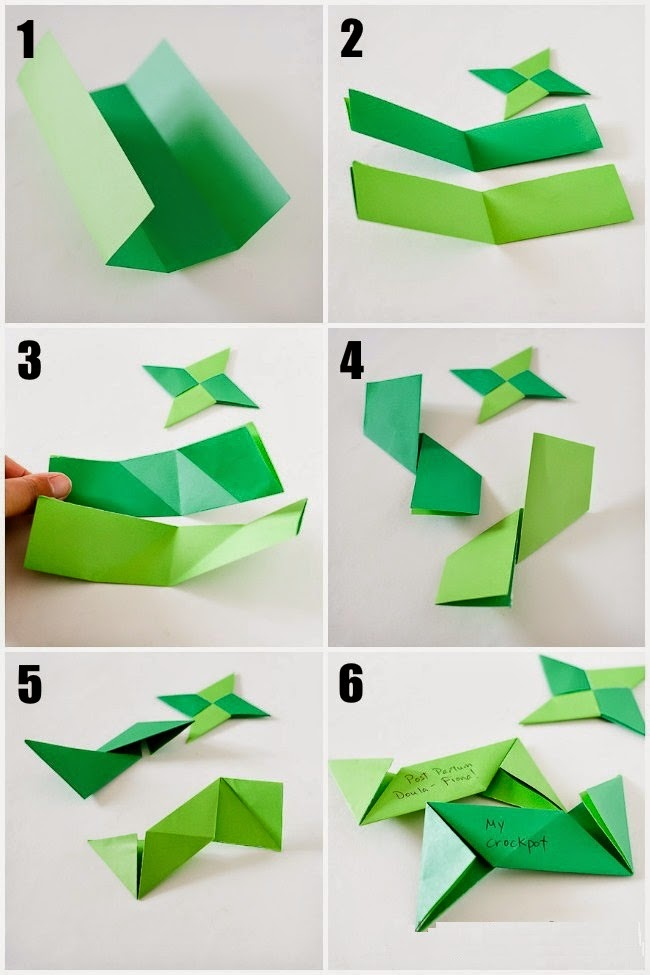 how to make a paper ninja star simple