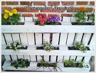 Creaciones mdo peque o jard n en un palet for Separadores de jardin