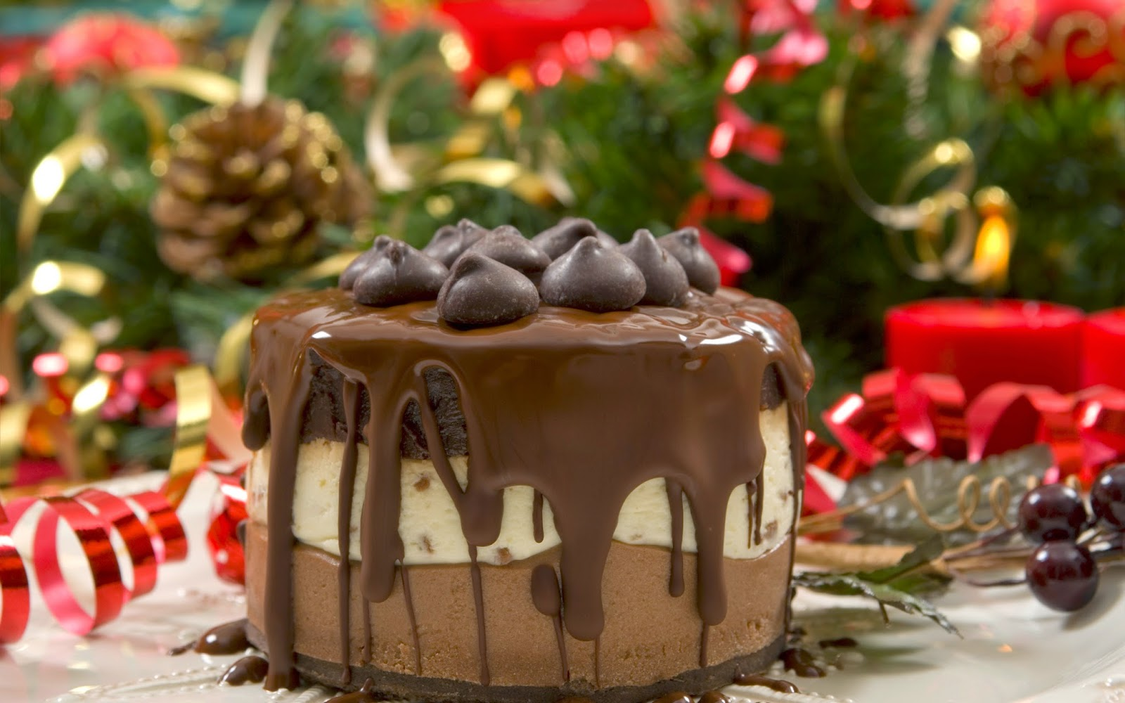 Allinallwalls cake food strawberry hd wallpaper for Pics of christmas desserts