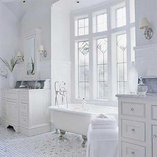 Pure design white on white bathroom ideas modern house for All bathroom designs