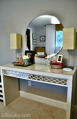 Dressing Table Gets Makeover for under 20 dollars {tutorial}