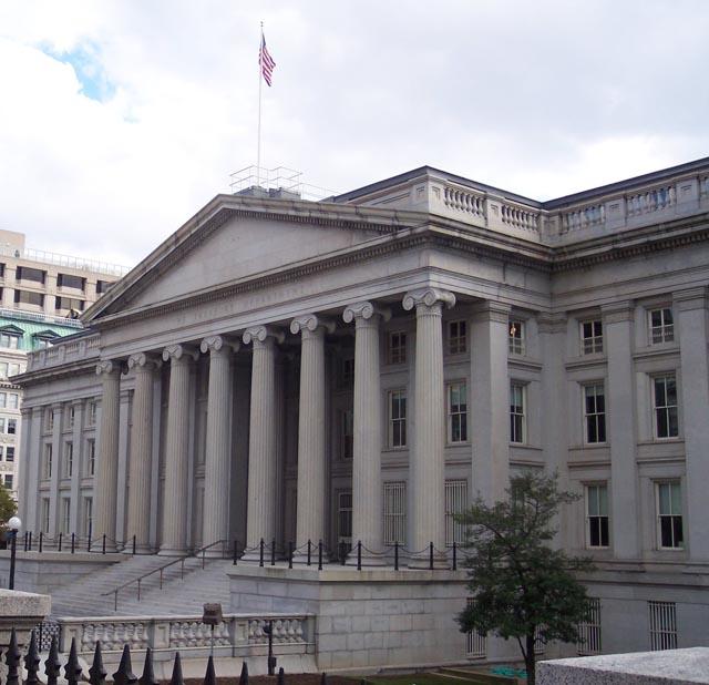 Prédio do Tesouro dos EUA