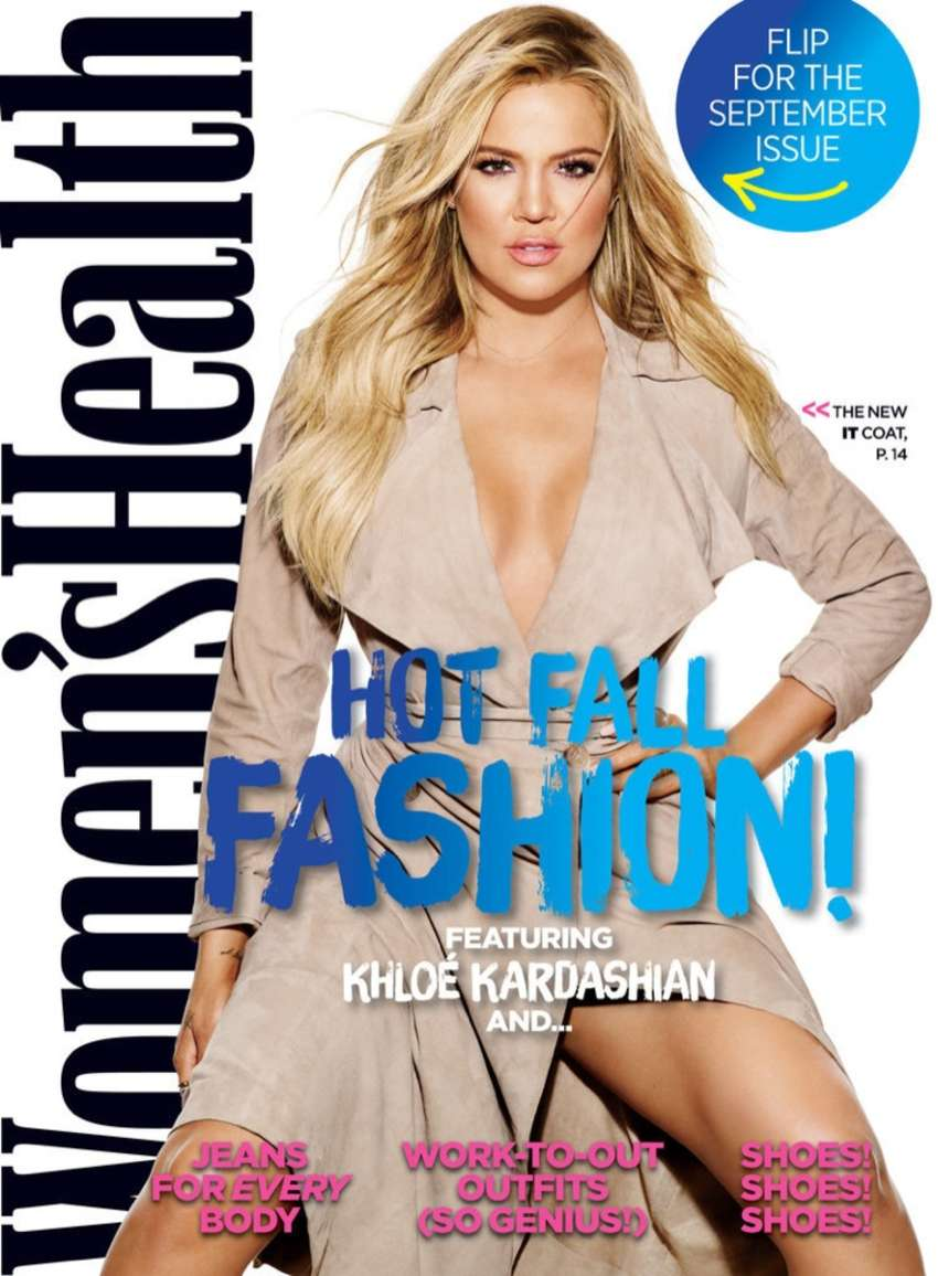 Khloe Kardashian flaunts curvy physique for Women's Health Magazine September 2015