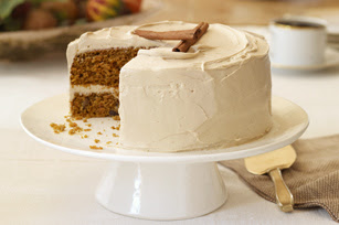 Pumpkin Carrot Cake Brown Sugar Icing