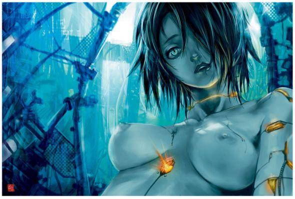 Hector Sevilla deviantart ilustrações mulheres estilo anime peitos sensuais fantasia