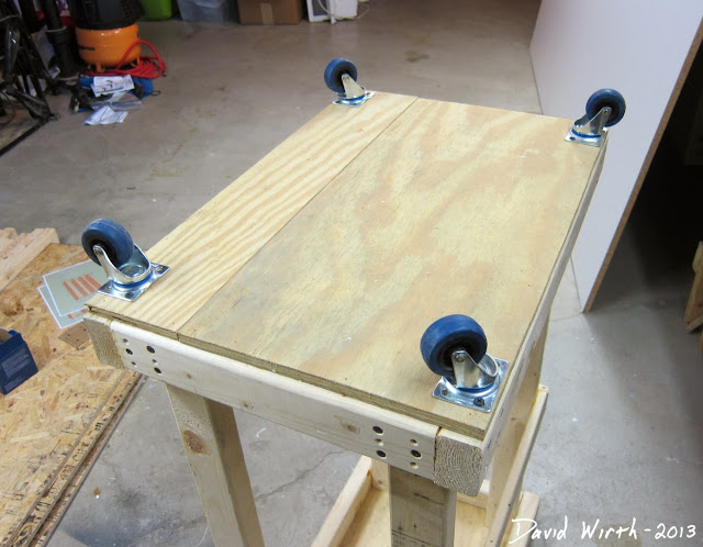 wheels for miter saw, move, organize, save space