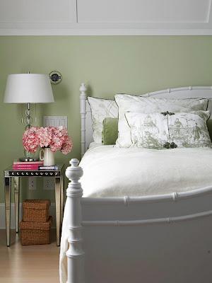 dormitorios decorados con verde
