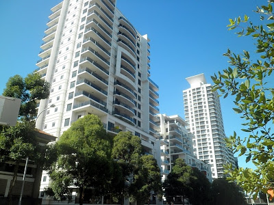 Apartment blocks in St Leonards