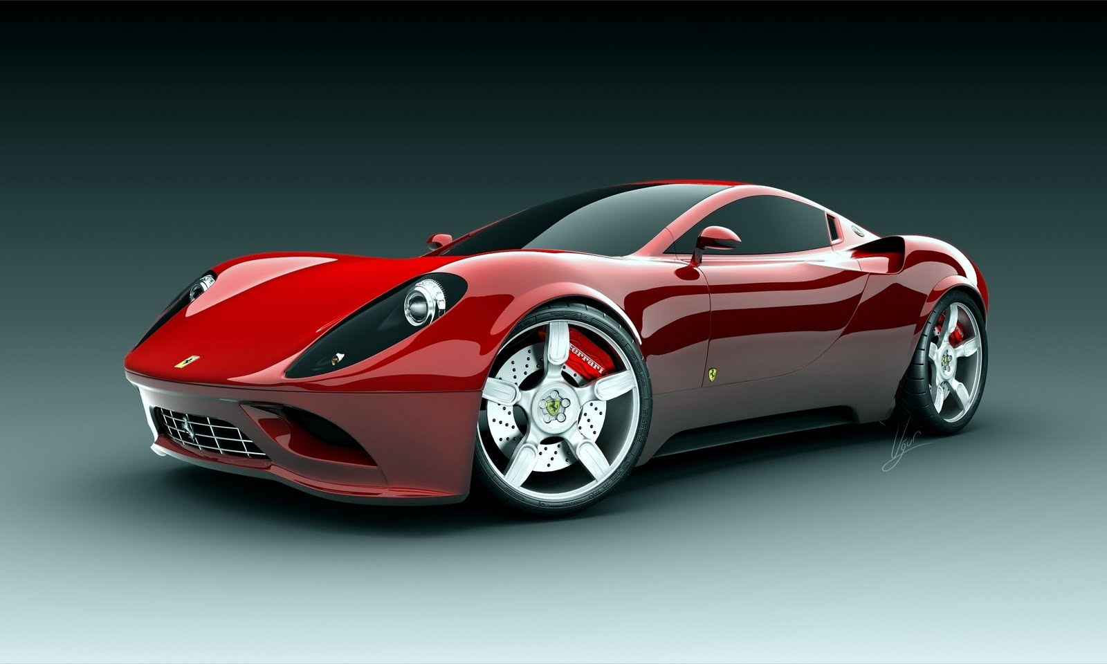 wallpaper green ferrari cars - photo #17