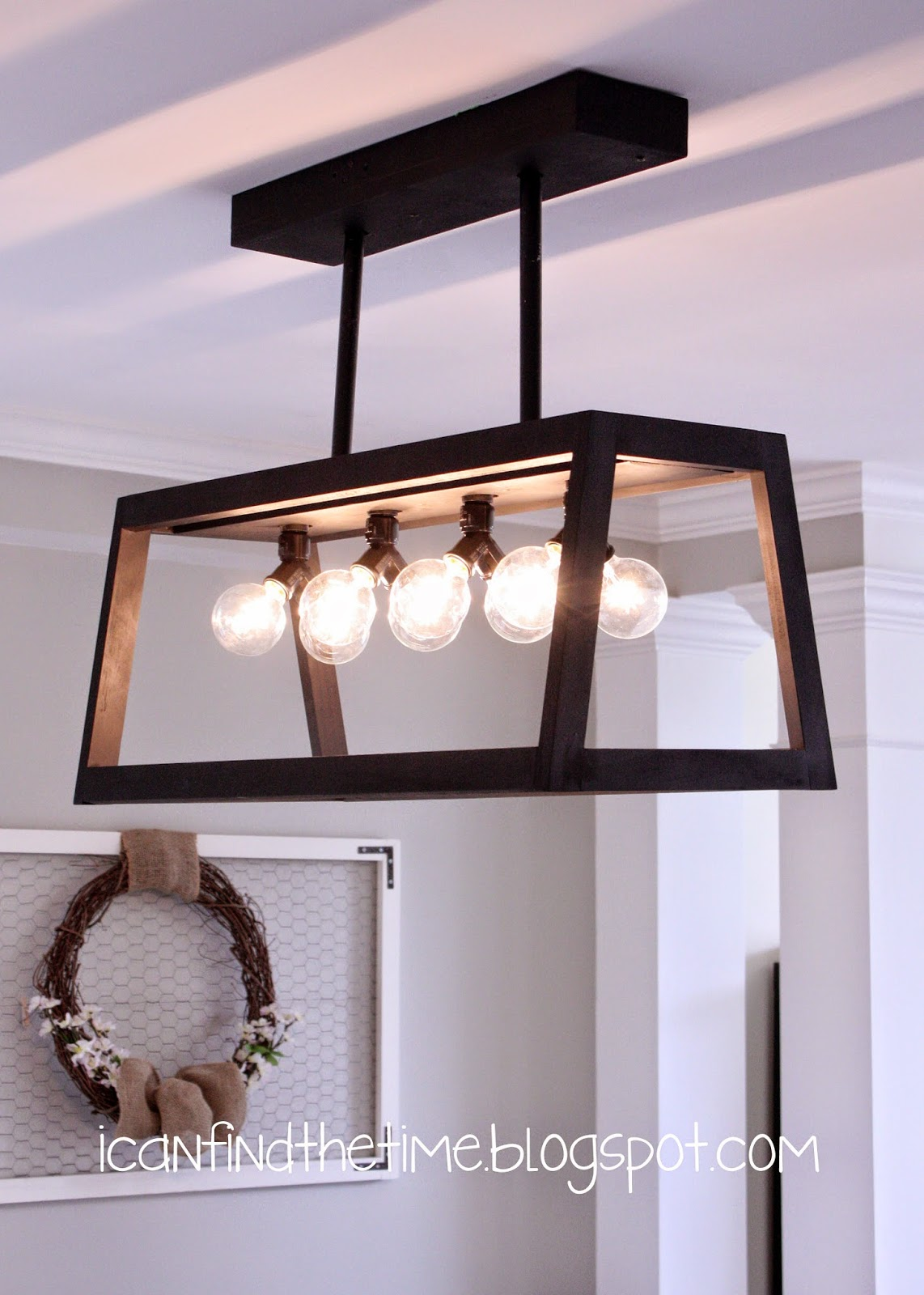 Diy knockoff restoration hardware filament chandelier aloadofball Gallery