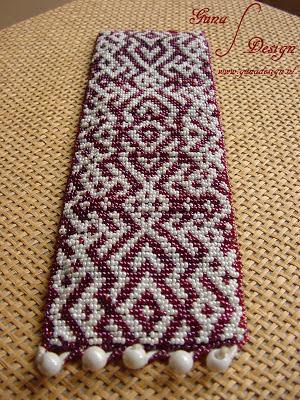 Bracelet Lielvardes Belt in peyote stitch by Gunadesign