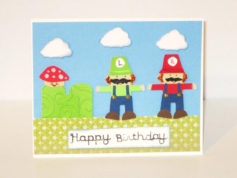 Creative Diva Super Mario Bros Birthday Card