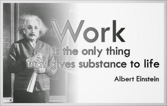Gambar Kata Mutiara Albert Einstein tentang pekerjaan