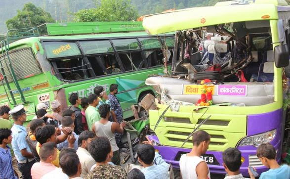 bhumesthan bus accident dhading 5 dead