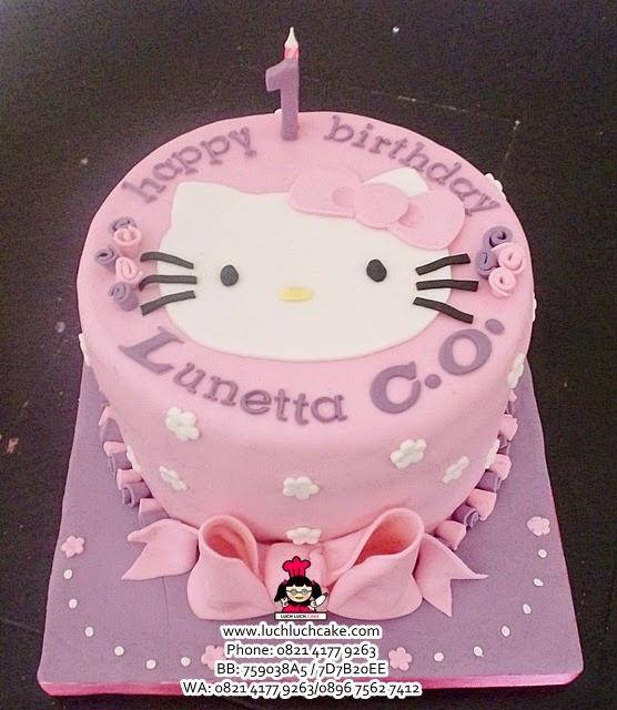 Kue Tart Hello Kitty 2D Fondant Daerah Surabaya - Sidoarjo