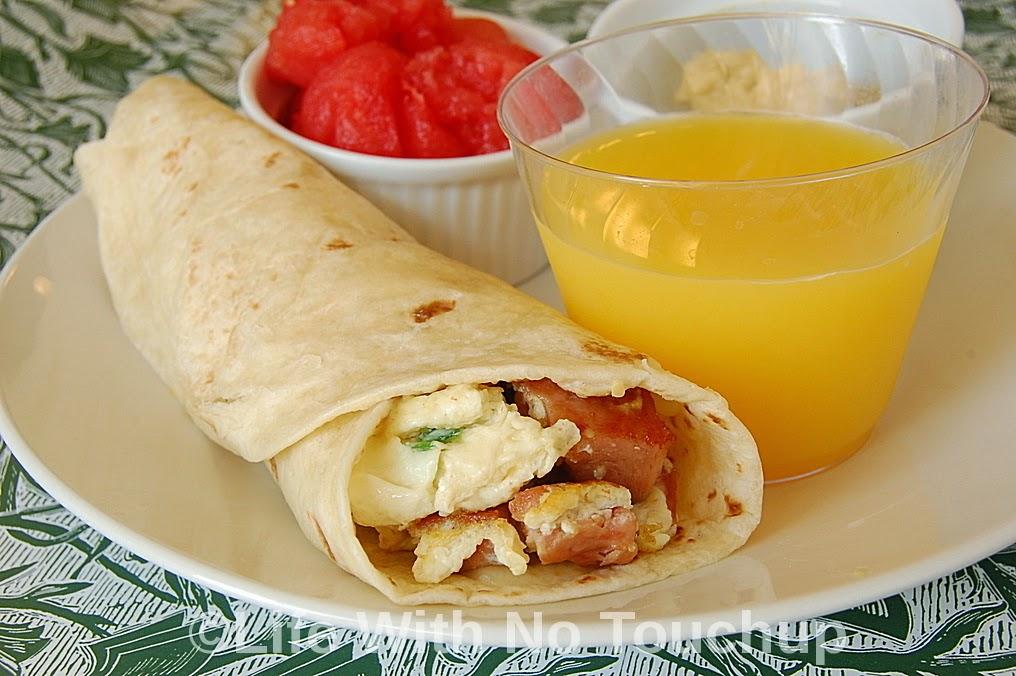 Egg White Scramble Burrito in 10 mins