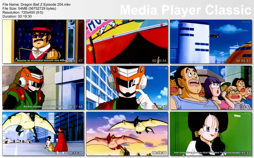 Download Film / Anime Dragon Ball Z Majin Buu Saga Episode 204 Bahasa