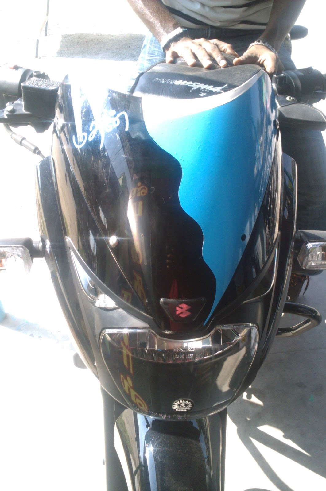 Bike stickering designs for pulsar 150 - Visor Stickers Design