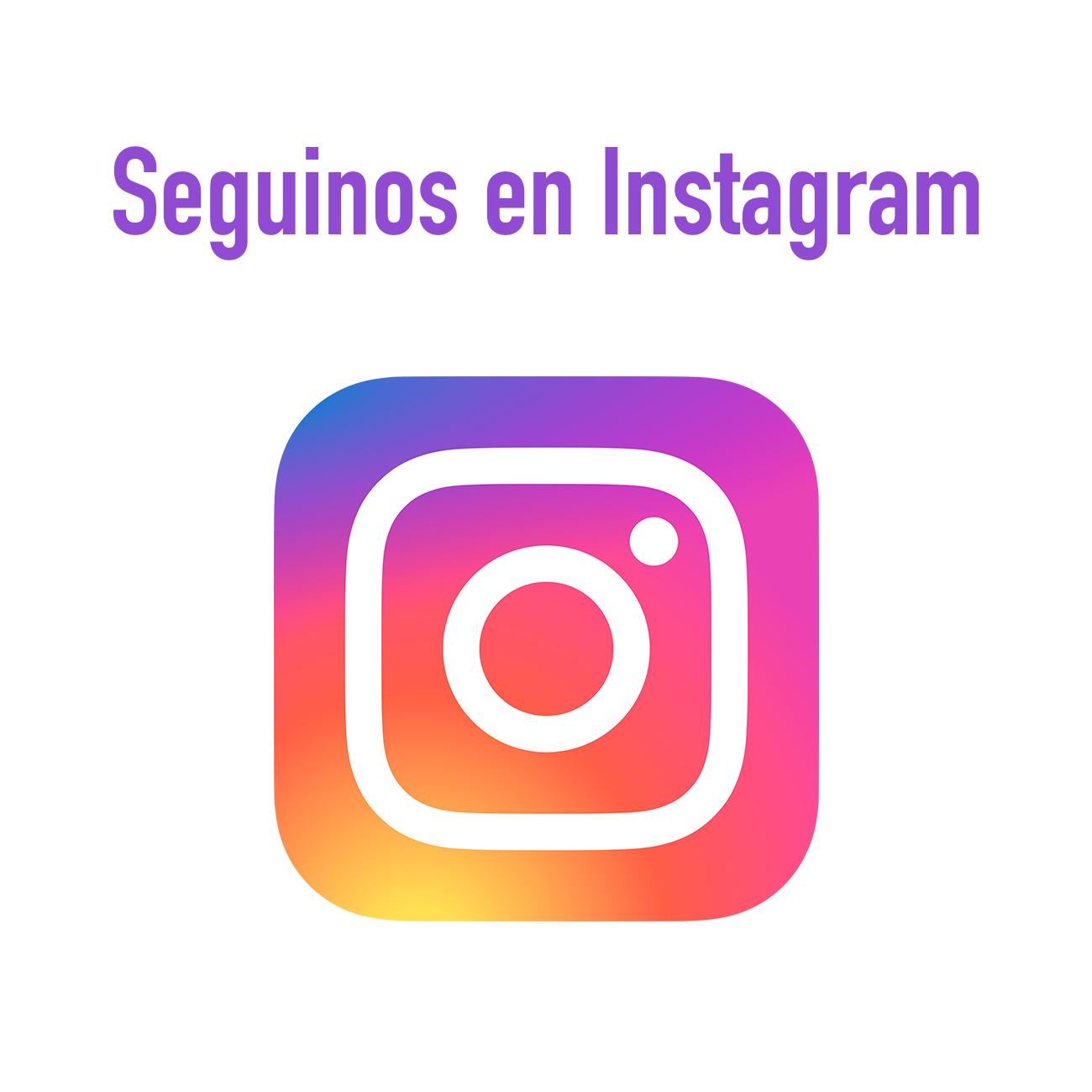 Visita nuestro perfil de Instagram