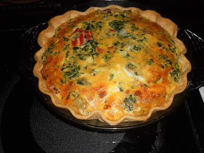 Spinach, Artichoke, and Roasted Red Pepper Quiche from Hezzi-D's Books and Cooks