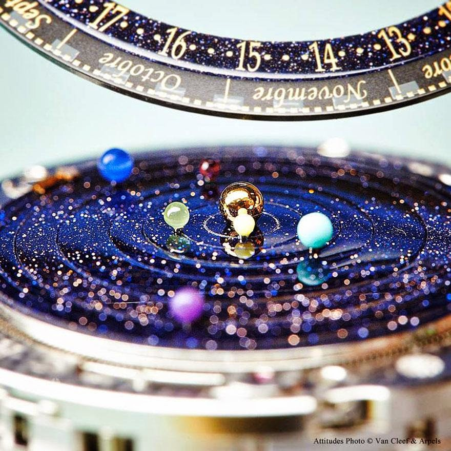 24 Of The Most Creative Watches Ever -Astronomical Watch Accurately Shows The Solar System's Movements On Your Wrist