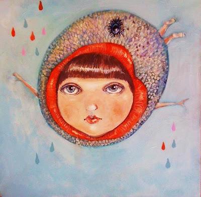 acrylique sur toile 30cm x 30 cm (L'étude pour voler) 2012