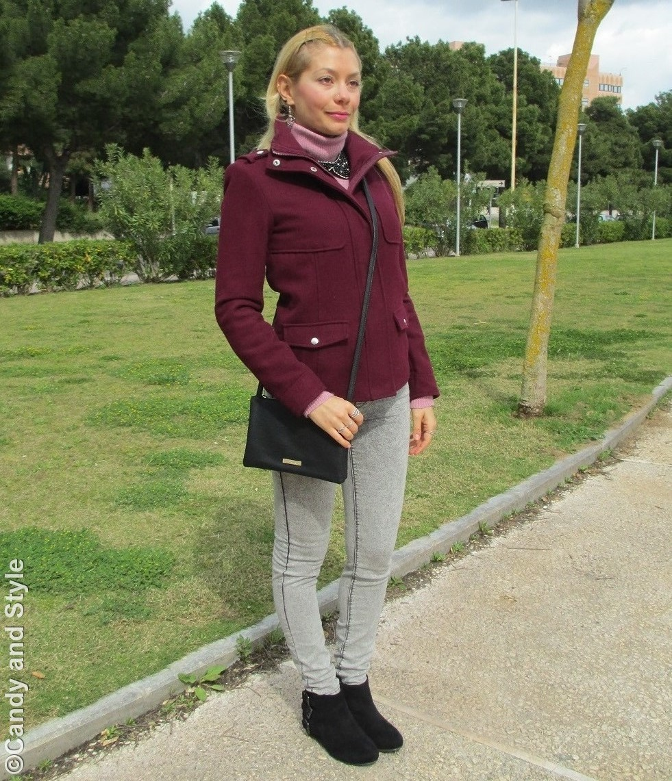 Burgundy, Pink, Jeggings, Crossbody Bag - Lilli Candy and Style Fashion Blog