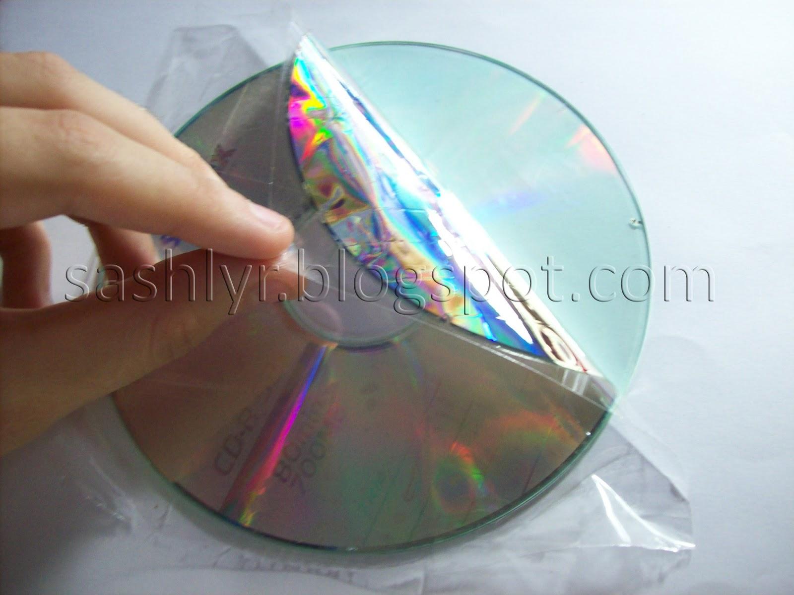 Sashlyr arte y decoraci n tutorial como reciclar cd 39 s for Cd reciclados decoracion