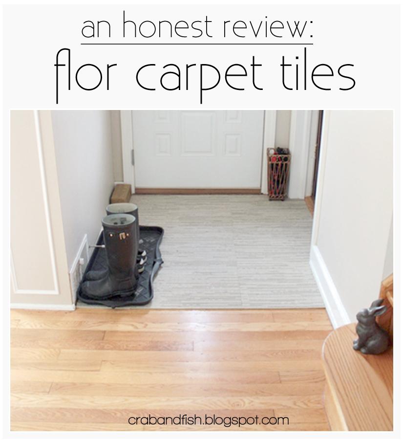 Flor Carpet Tiles In The Entryway