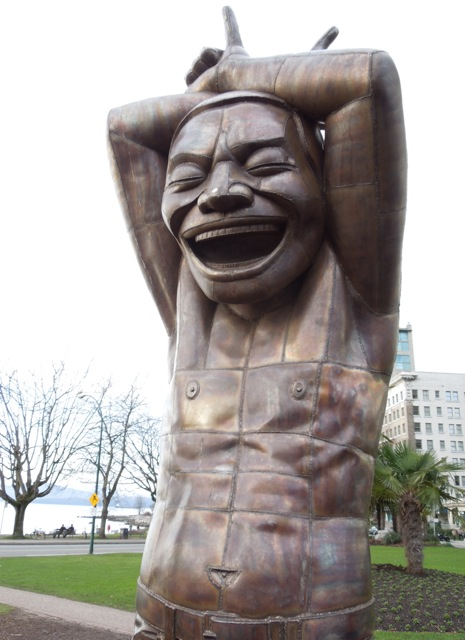 A-maze-ing Laughter statue Vancouver