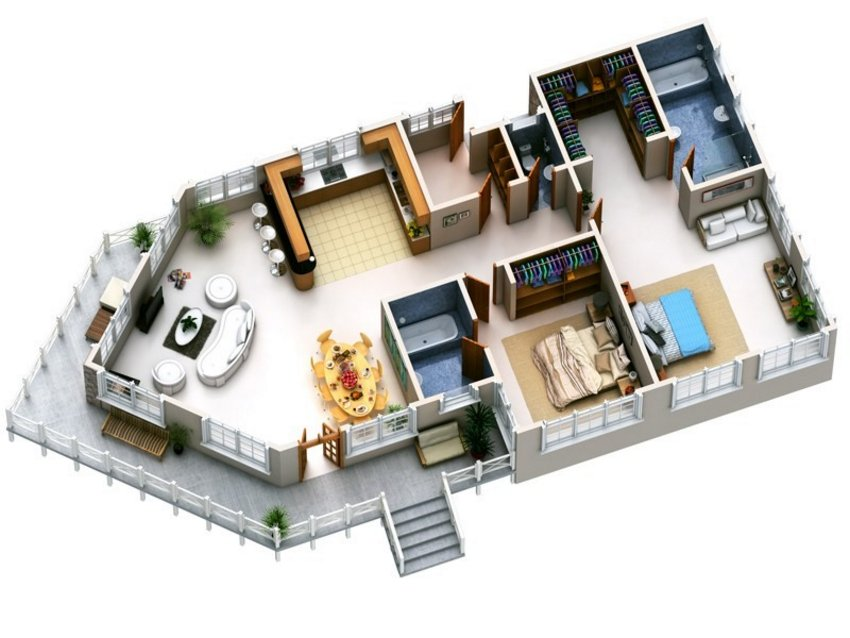 3D Floor Plan Painting 2