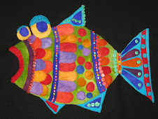 Folk Art Fish going on the Panama cruise