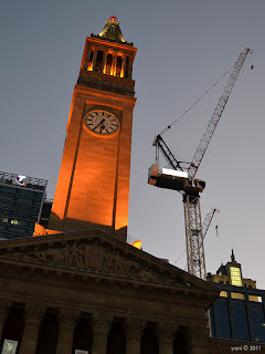 brisbane - evening clocktower