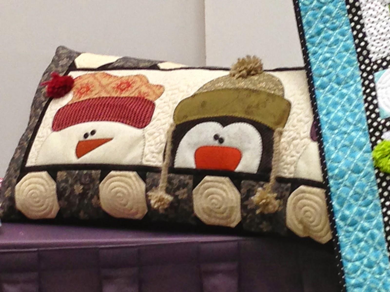 snowman pillow, denise clason