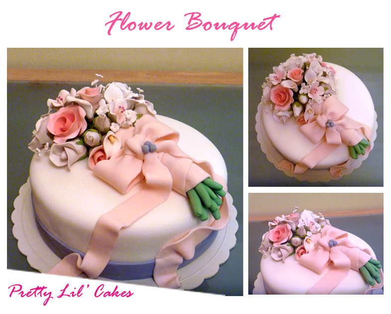 Pretty Lil\' Cakes - cakes: Flower Bouquet Cake