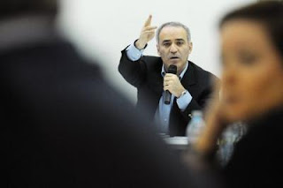 Garry Kasparov le 24 novembre 2012 à Moscou - Photo AFP - Andrey Smirnov