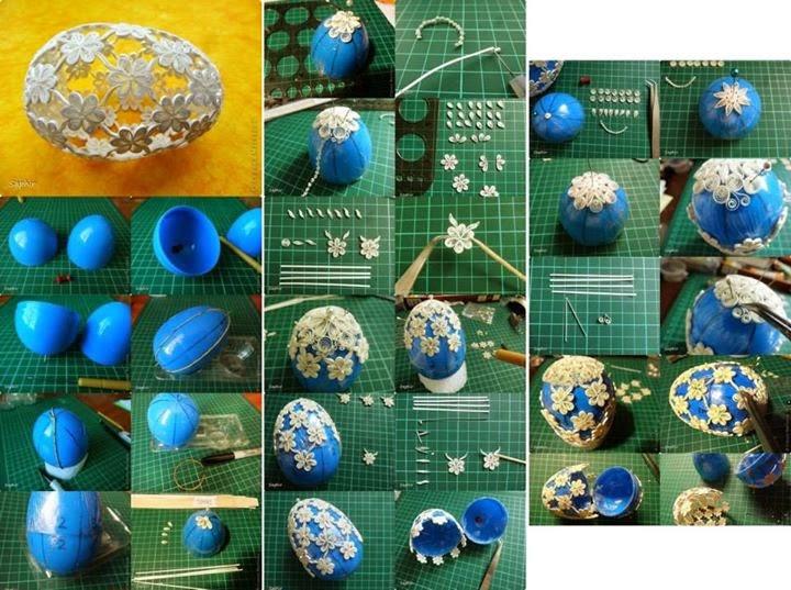 Egg  Art Step By Step Tutorial