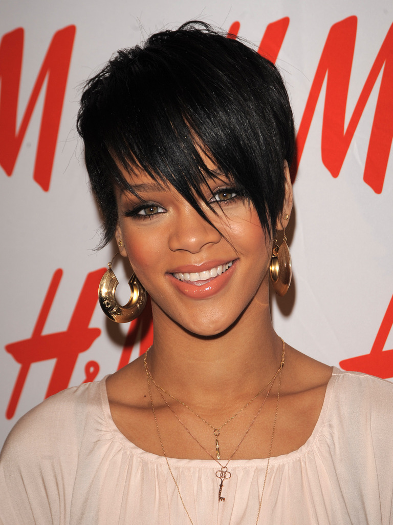 Short Hairstyles With Bangs Black Hair