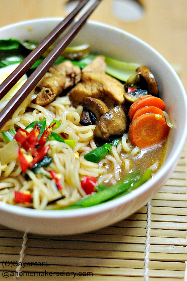 Chicken and Noodle soup - A Homemaker's Diary