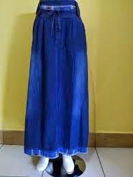 gambar rok muslimah biru