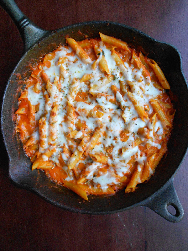 Skillet Baked Penne - Confessions of a Confectionista