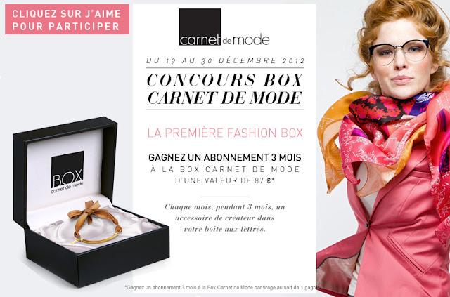 1 abonnement de 3 mois à la Box Carnet de Mode