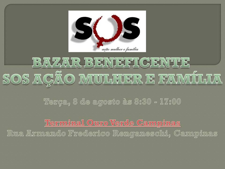 Bazar Beneficente SOS Ação Mulher e Família