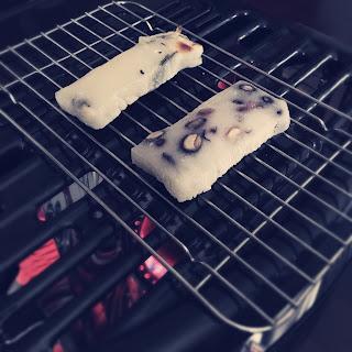 ストーブ 焼き餅