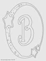 Mewarnai Gambar Huruf Alfabet B Bergaya Bulan Bintang