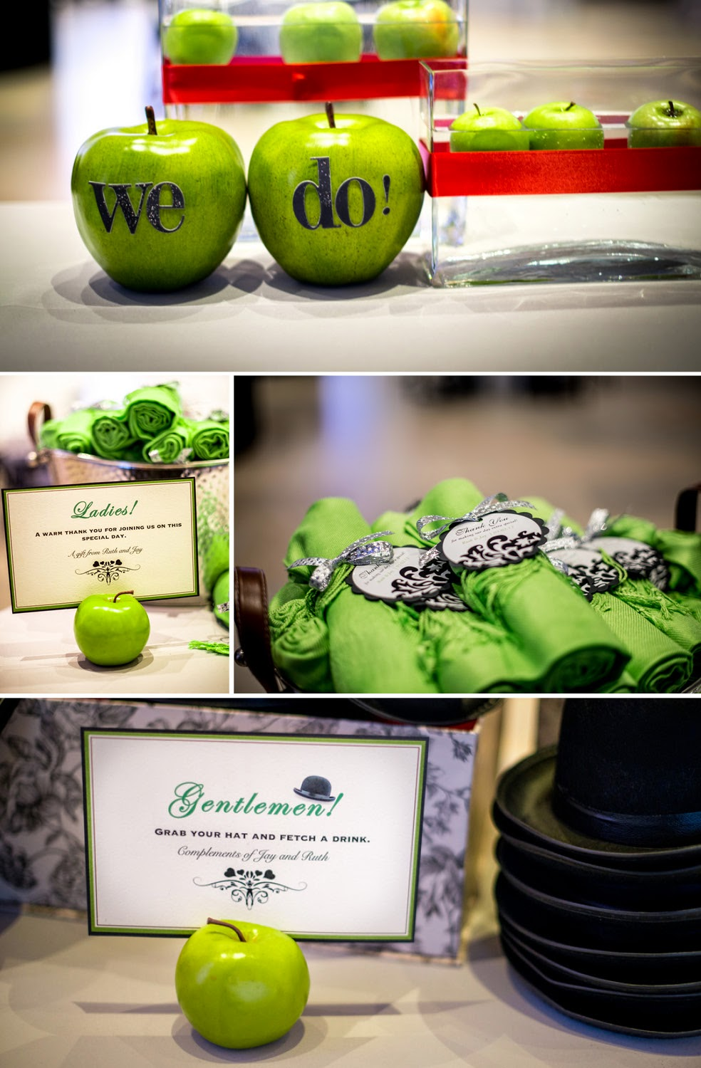 Using green apples in your wedding decor wedding stuff ideas junglespirit