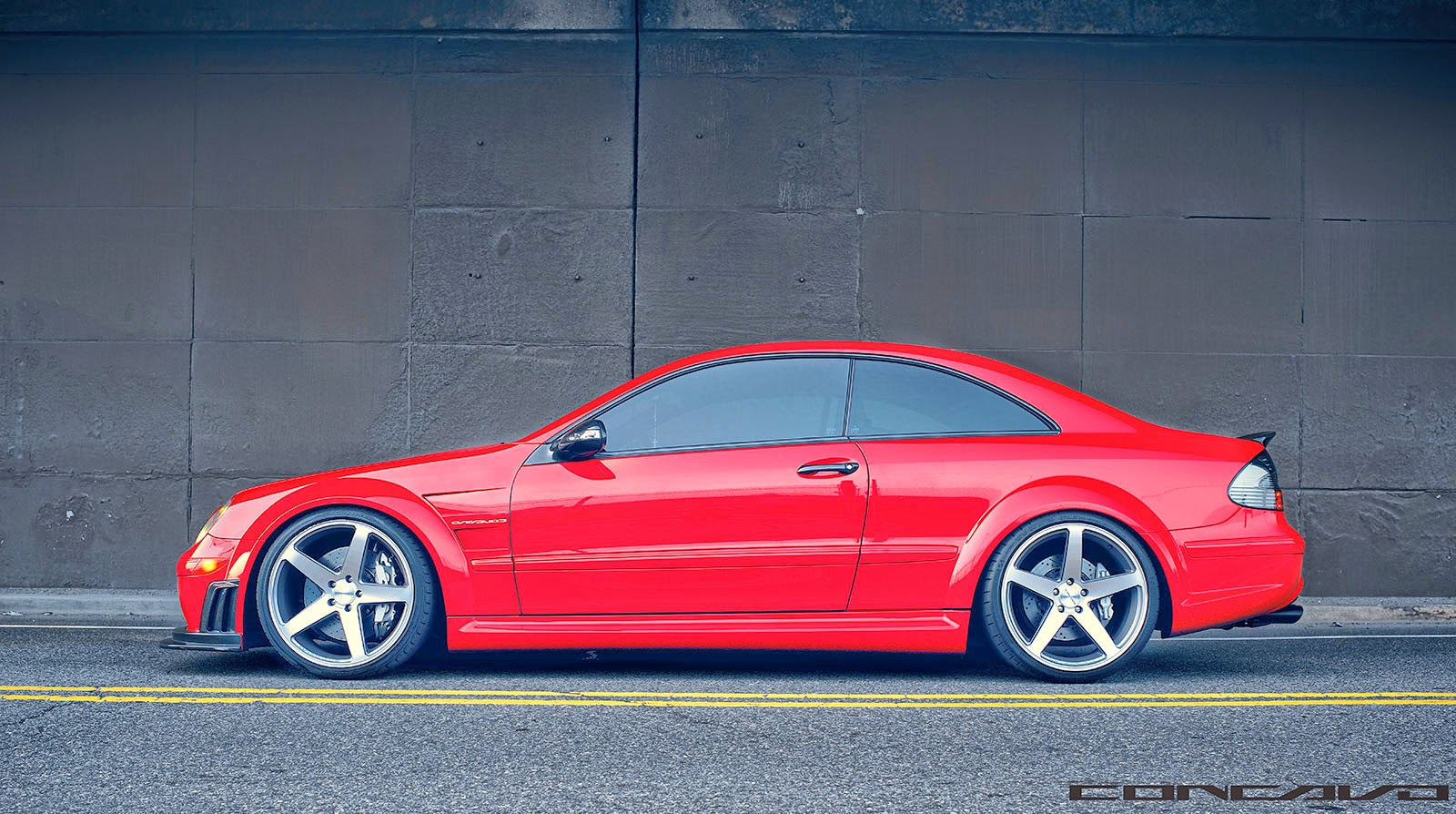 mercedes benz clk63 amg black series on concavo cw 5 wheels benztuning. Black Bedroom Furniture Sets. Home Design Ideas