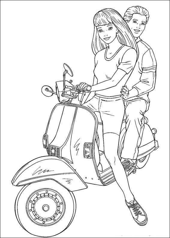 Coloring Pages Barbie And Ken : Cartoons coloring pages barbie and ken
