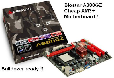 Biostar A880GZ cheap AM3+ motherboard